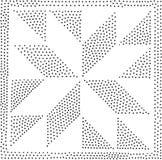 Reticolo senza giunte geometrico di vettore Ripetizione dei punti astratti Immagini Stock