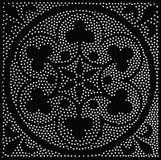 Reticolo senza giunte geometrico di vettore Ripetizione dei punti astratti Fotografia Stock Libera da Diritti