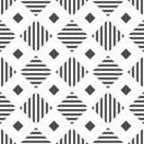 reticolo senza giunte geometrico Priorit? bassa astratta variopinta Illustrazione in bianco e nero Stile minimalista illustrazione di stock