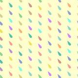 Reticolo senza giunte Gocce colorate Fotografie Stock