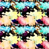 Reticolo senza giunte L'acquerello spruzza Macchie multicolori illustrazione di stock
