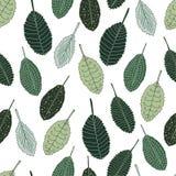 Reticolo senza giunte La caduta delle foglie Disegnato a mano Immagine Stock Libera da Diritti