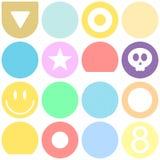 Reticolo senza giunte luminoso dei cerchi di colore royalty illustrazione gratis
