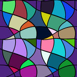 Reticolo senza giunte Maglia che ripete struttura, fondo del mosaico Immagini Stock Libere da Diritti