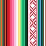 Reticolo senza giunte messicano Struttura a strisce con l'ornamento per il plaid, coperta, tappeto Fondo per la decorazione Fotografia Stock Libera da Diritti