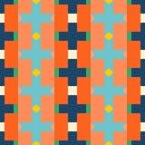 Reticolo senza giunte Ornamento geometrico multicolore con il rombo illustrazione di stock