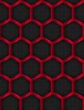 Reticolo senza giunte Priorità bassa del metallo Esagonale, Honey Comb Stainless Steel Mesh Illustrazione di vettore Fotografie Stock