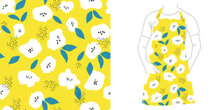 Reticolo senza giunte Semi e fiori illustrazione vettoriale