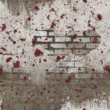 Reticolo senza giunte Splattered rosso bianco del muro di mattoni Fotografia Stock Libera da Diritti