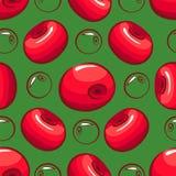 Reticolo senza giunte Uno scattering delle ciliege illustrazione di stock