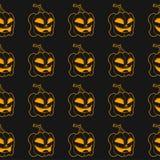 Reticolo senza giunte Zucca sorridente di Halloween Illustrazione Vettoriale