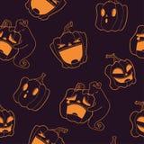 Reticolo senza giunte Zucche di Halloween Royalty Illustrazione gratis