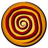 Reticolo a spirale nell'icona del cerchio Fotografia Stock