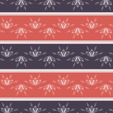 Reticolo a strisce floreale senza giunte Modello geometrico astratto, progettazione minima del tessuto Immagini Stock