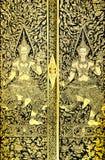 Reticolo tailandese antico sul portello Fotografia Stock Libera da Diritti