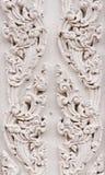 Reticolo tailandese bianco di stile Fotografie Stock