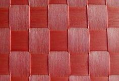 Reticolo tessuto rosso Immagine Stock Libera da Diritti