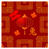 Reticolo tradizionale senza giunte cinese Fotografie Stock
