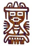 Reticolo messicano - figura tribale dell'uomo Immagine Stock