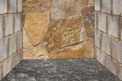 Reticolo Unshaped della parete di pietra Fotografia Stock