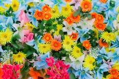 Reticolo variopinto della priorità bassa dei fiori fotografie stock