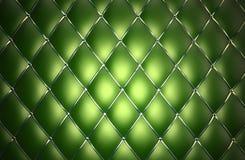 Reticolo verde del cuoio genuino Immagini Stock Libere da Diritti