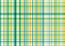 Reticolo verde e giallo del plaid Fotografia Stock