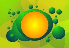 Reticolo verde ed arancione della priorità bassa della bolla Fotografia Stock