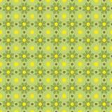 Reticolo verde geometrico di Seamles di vettore Immagini Stock