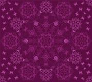 Reticolo viola senza giunte di farfalle e dei fiori Fotografia Stock Libera da Diritti