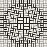 A reticulação bloat a ilusão ótica do efeito Projeto geométrico abstrato do fundo Teste padrão preto e branco sem emenda do vetor ilustração royalty free