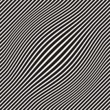 A reticulação bloat a ilusão ótica do efeito Projeto geométrico abstrato do fundo Teste padrão preto e branco sem emenda do vetor ilustração stock