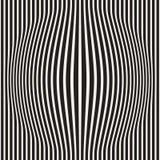 A reticulação bloat a ilusão ótica do efeito Projeto geométrico abstrato do fundo Teste padrão preto e branco sem emenda do vetor ilustração do vetor