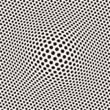 A reticulação bloat a ilusão ótica do efeito Projeto geométrico abstrato do fundo Teste padrão retro sem emenda do vetor ilustração royalty free