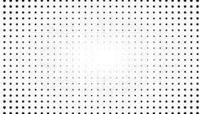A reticulação de muitos pontos, fundo abstrato gerado por computador, 3D rende video estoque