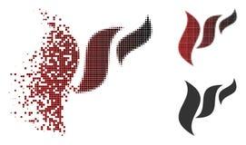 Reticulação decomposta Flora Abstraction Icon do pixel ilustração royalty free