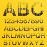 A reticulação do vetor alinha letras do alfabeto Imagem de Stock Royalty Free