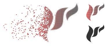 Reticulação fraturada Flora Abstraction Icon do pixel ilustração royalty free