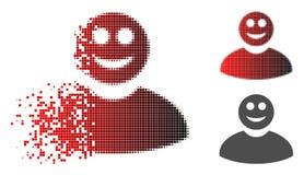 A reticulação móvel de Pixelated sorriu ícone do homem ilustração do vetor