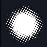 A reticulação pontilhou o fundo abstrato do vetor, teste padrão de ponto na forma do círculo Imagens de Stock