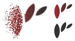 Reticulação Shredded Flora Leaf Abstraction Icon do pixel ilustração royalty free