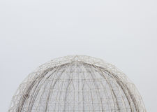 Reticular θόλος χάλυβα στην πόλη των τεχνών και της επιστήμης, Βαλένθια, στοκ φωτογραφίες