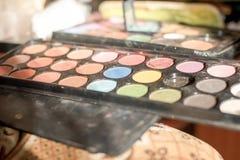 Reticulation shadows and blush makeup artist Stock Photos