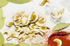 Reticulatus do boleto dos cogumelos secados, decoração Fotografia de Stock Royalty Free
