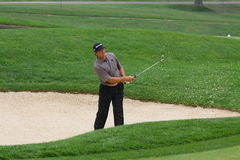 Retief Goosen in the bunker Royalty Free Stock Image