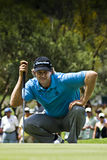Retief Goosen - Reading the Putt Stock Image