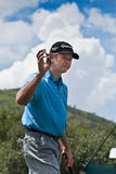 Retief Goosen - Thanks to Crowd - NGC2009 Royalty Free Stock Image