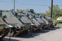 Retiered APC M-113 in museum. Retiered APC M-113 in Texas Military Forces Museum in Austin, Texas Stock Image