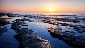 Retimno sunset Stock Image