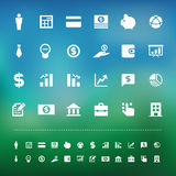 Retina business and finance finance icon set Stock Photos
